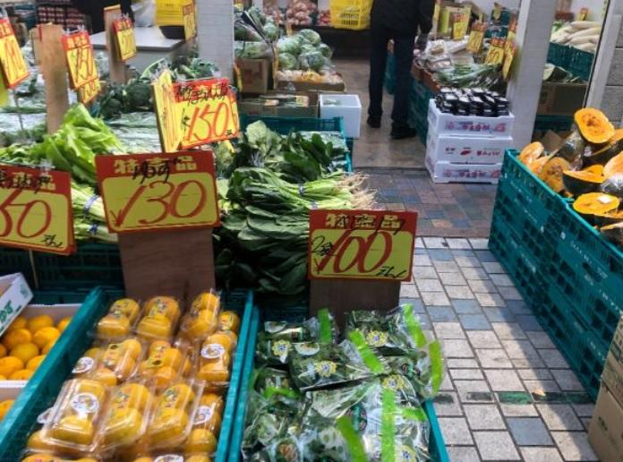 水道筋商店街の野菜の安売りのお店 新鮮激安青果店キング